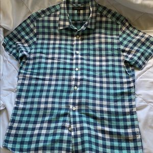 Banana Republic Men's Plaid Button Down Size Small